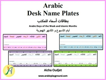 Desk Name – Days and Months