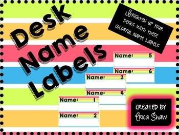 Desk Name Labels