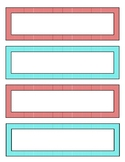 Desk Name Plate - 8.5 x 11 printable - Red and Aqua