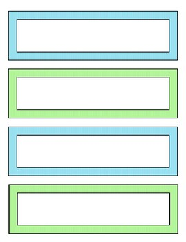 graphic about Printable Name Plates identify Table Popularity Plate - 8.5 x 11 printable - Blue and Eco-friendly