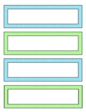 Desk Name Plate - 8.5 x 11 printable - Blue and Green