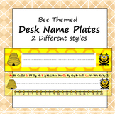 Desk Name Plate - Bee Theme - ZisforZebra