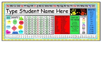 Name Tag /Name Plate (Everything you need on one name tag!)- Just Type & Print!!
