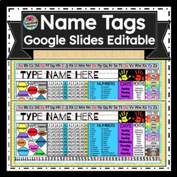Editable Desk Name Tag/ Name Plate (Everything you need on