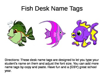 Desk Name Plates -- Fish