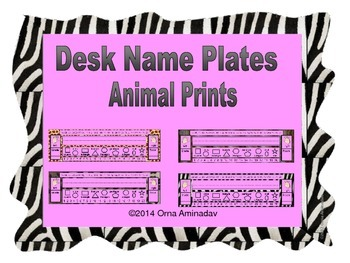 Desk Name Plates-Animal Prints