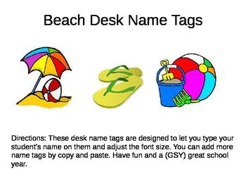 Desk Name Plates -- Beaches