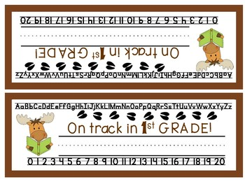 Camping/Forest Theme First Grade Nameplates