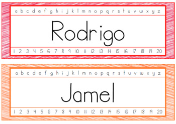 Desk - Name Plates (EDITABLE)