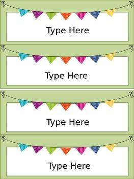 Desk Name Plates-Editable