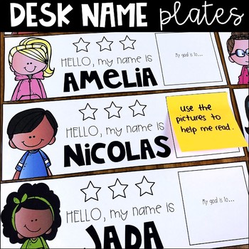 Character Desk Name Plates - Editable Labels