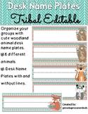 Desk Name Plates Editable Tribal