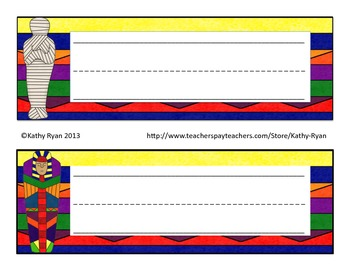 Desk Name Plates--Egypt Themed Colorful Background