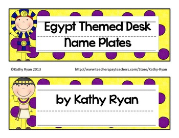 Desk Name Plates--Egypt Themed Yellow Background