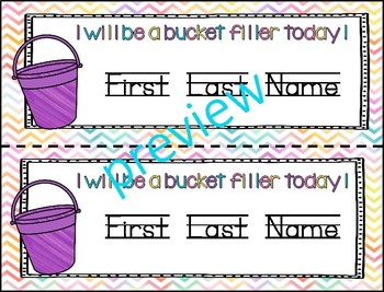 Desk Name Plates - Fill our Bucket Theme