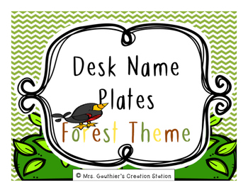 Desk Name Plates - Forest Theme