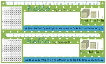 Desk Name Plates-Green (Legal Size)