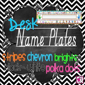 Desk Name Plates: Modern Print - Brights, Stripes, Chevron and More! 4x14