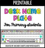 Desk Name Plates - Name Tags - For Pre-K, Kindergarten, an
