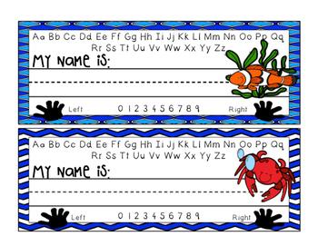 Desk Name Plates - Ocean Theme