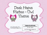 Desk Name Plates - Owl Theme