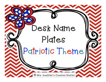 Desk Name Plates - Patriotic Theme