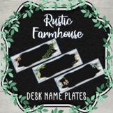 Desk Name Plates Printables - Rustic Farmhouse Themed