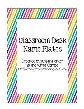 Desk Name Plates - Rainbow Stripes Theme