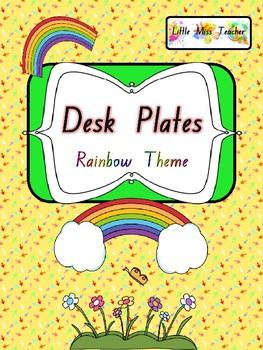 Desk Name Plates - Rainbow Themed