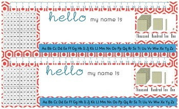 Desk Name Plates-Red (Legal Size)