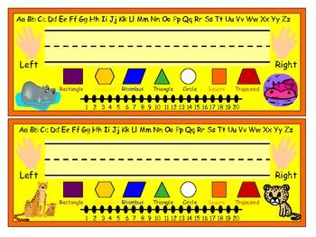 Desk Name Plates - Savanna Theme