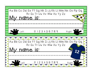 Desk Name Plates - Seahawks Theme
