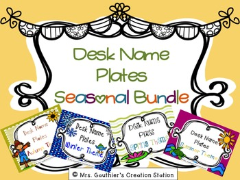 Desk Name Plates - Seasonal Bundle