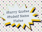 Desk Name Plates Star Theme with Education Quotes