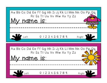 Desk Name Plates - Summer Theme