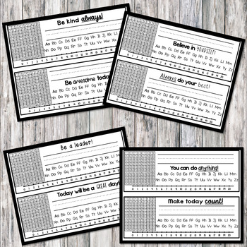 Desk Name Plates & Tags w/ Motivational Phrases **Editable AND Ink-Saving**