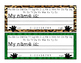Desk Name Plates - Wild Animal Theme (W/O PICTURES)