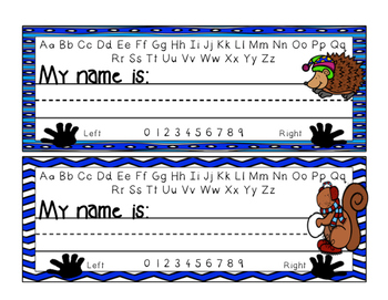 Desk Name Plates - Winter Theme