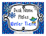 Desk Name Plates - Winter Theme