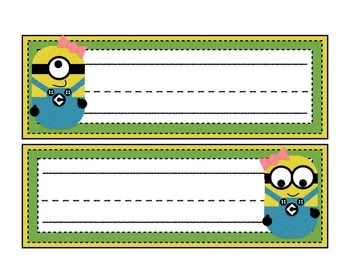 Desk Name Plates: Yellow Bean Characters