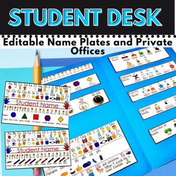 Desk Name Plates, Lapbooks or Mini Offices Back to School for K-2