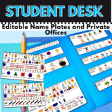 Editable Student Desk Name Plates and more for K-2