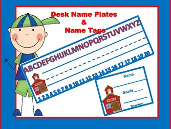 Desk Name Plates and Name Tags