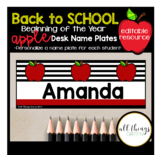 Desk Name Plates for Students {apple themed}