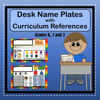 Desk Name Plates with Learning References