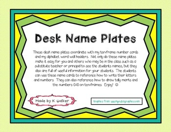 Desk Name Plates/Tags