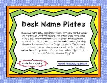 Desk Name Plates/Tags (Rainbow Edition)