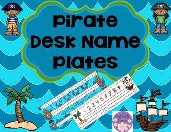 Desk Name Tag Pirate Theme