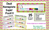 Desk Name Tag Super Pack! Styles include chevron, polka dots, and more!