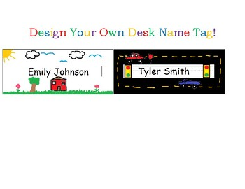 Desk Name Tag Templates (Design Your Own)